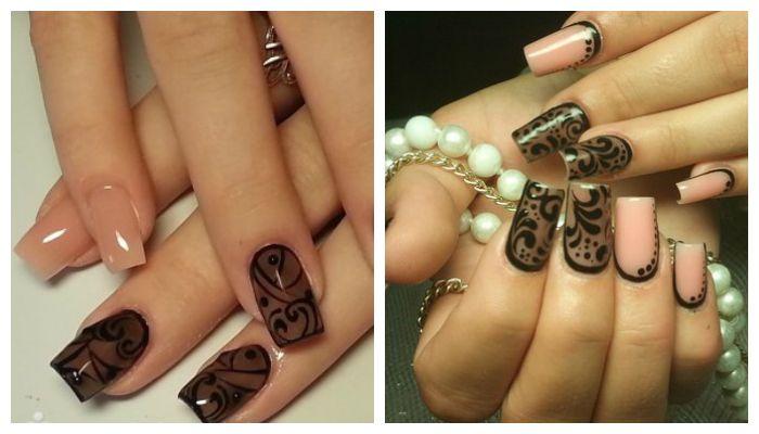 Эффект вуали на ногтях