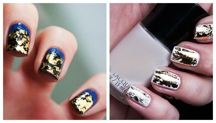 Дизайн ногтей: маникюр с фольгой