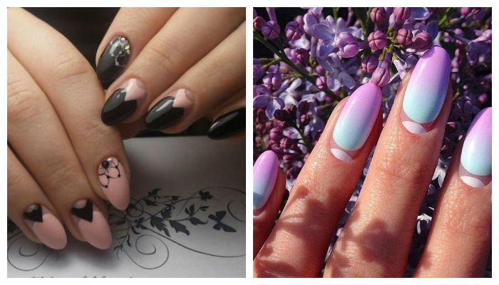 Дизайн ногтей: лунный маникюр