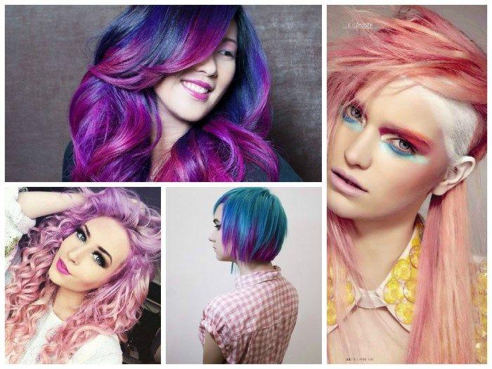 Колорирование волос: фото