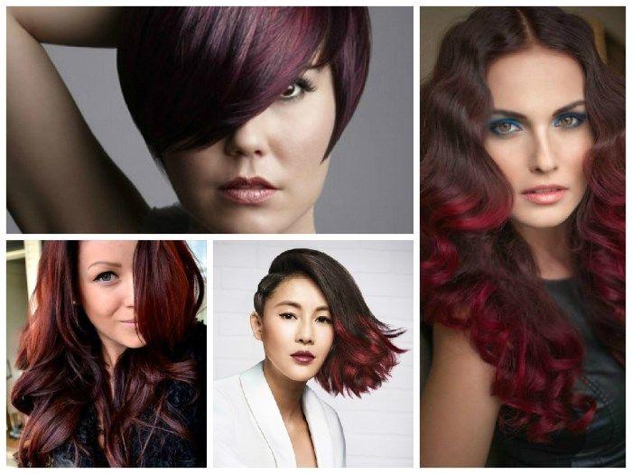 Колорирование на темные волосы: фото