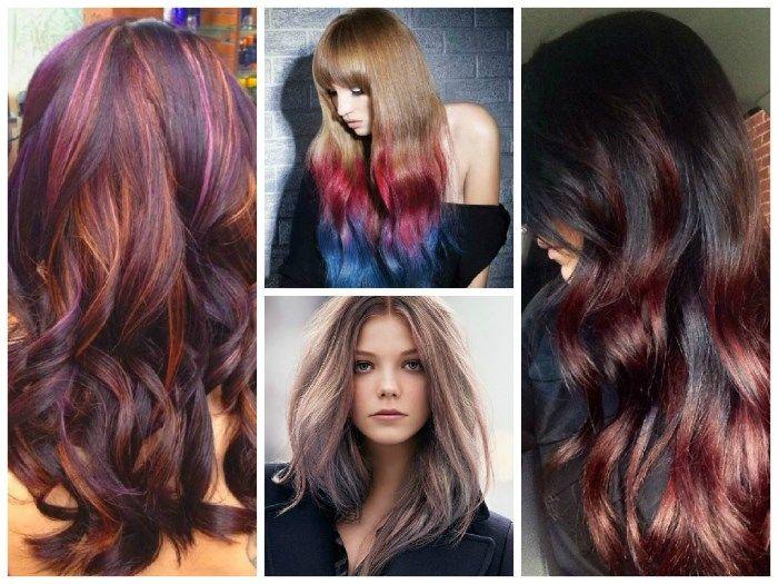 Красный каштан волосы мелирование