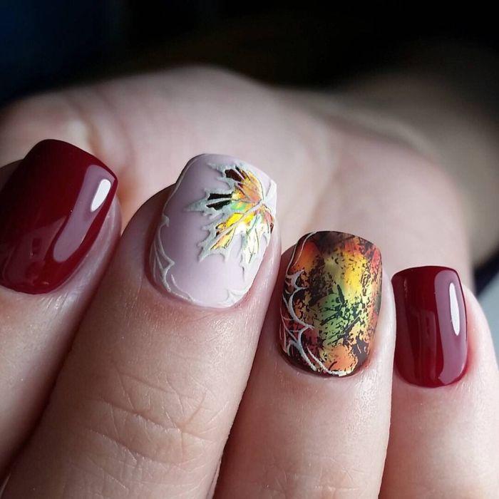 Осенний маникюр, фото