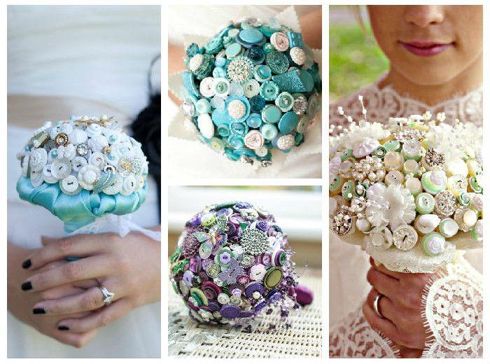 Свадебные букеты  своими руками