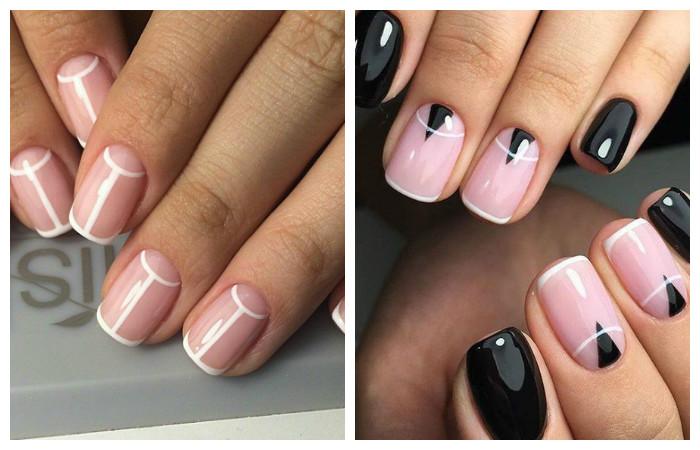 Не яркие рисунки на квадратные ногти фото