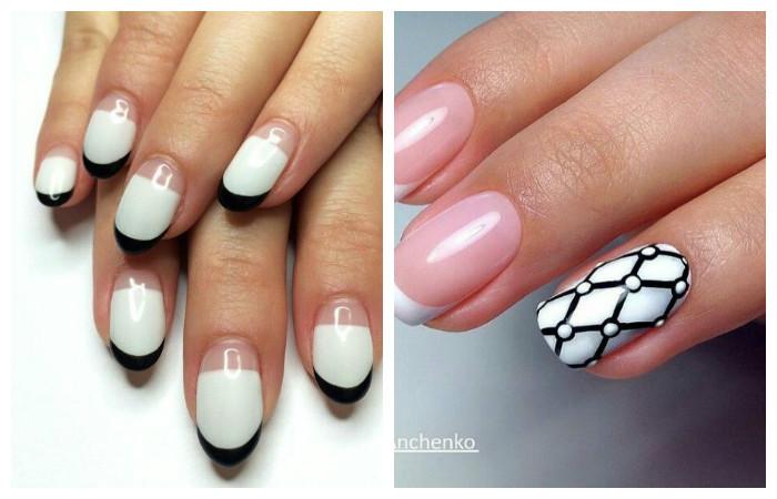 Черно-белый французский дизайн