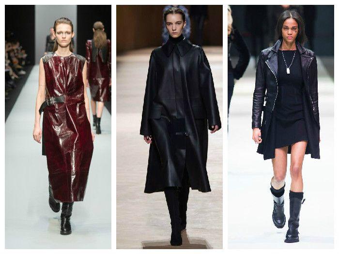 Модная одежда 2016: изделия из кожи