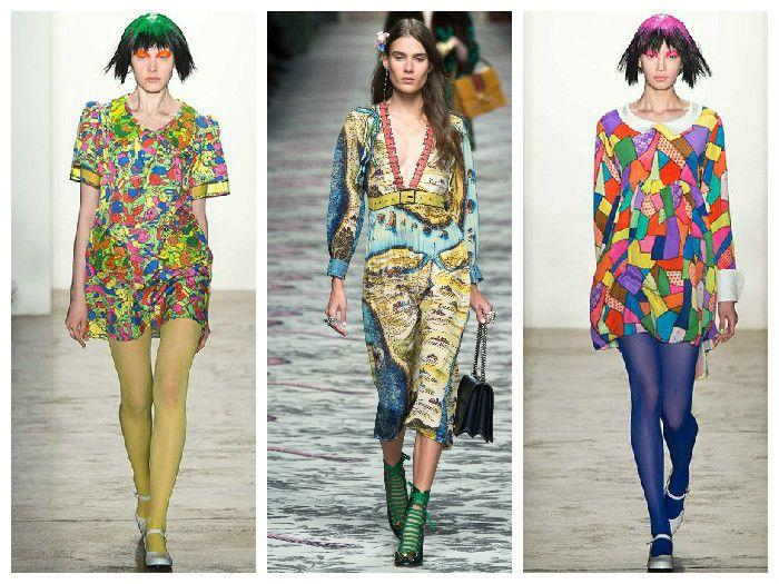 Модная одежда 2016: платья с необычным принтом