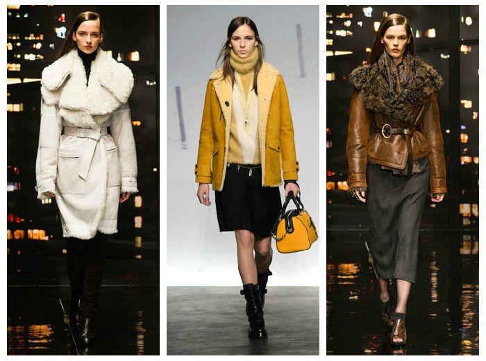 Модная одежда 2016: дубленки