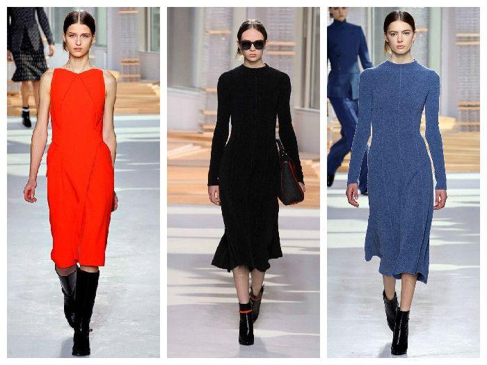 Однотонные модные платья Hugo Boss
