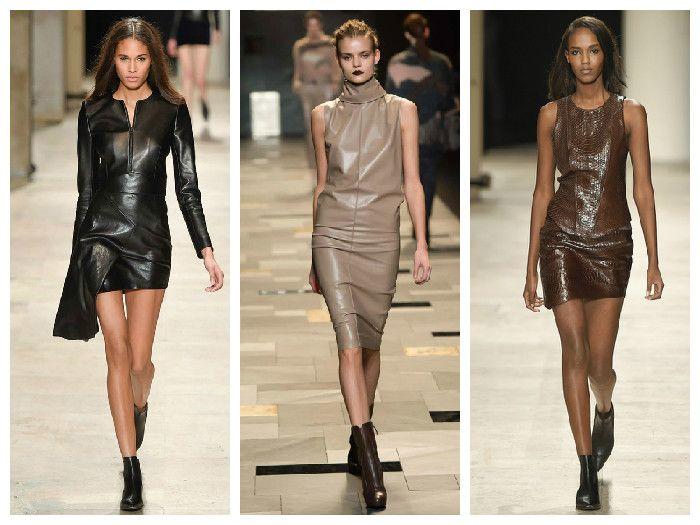 Модные кожаные платья: Barbara Bui, Trussardi, Zadig & Voltaire