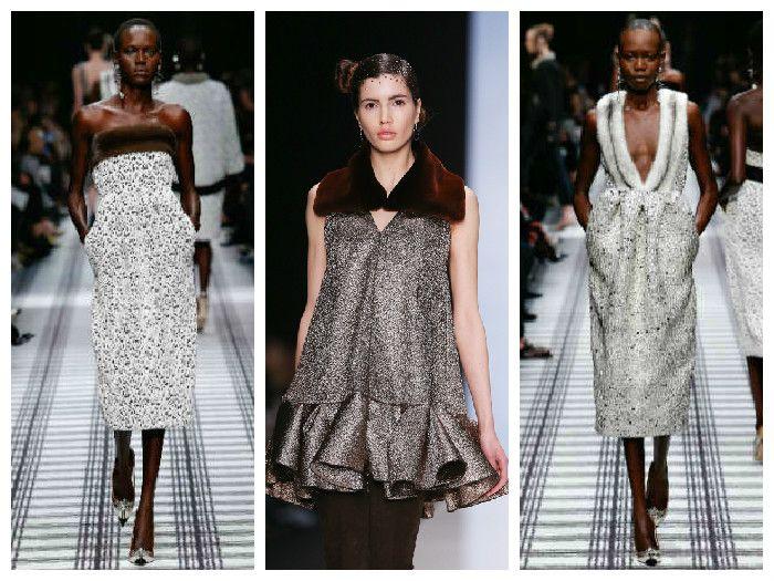 Модные платья с меховой отделкой