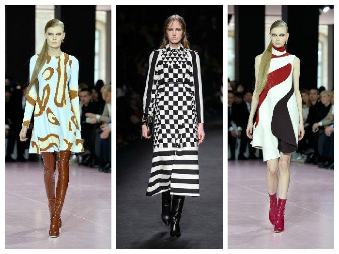 Модные платья с принтом от Valentino и Dior