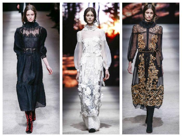 Модные платья коллекция Alberta Ferretti