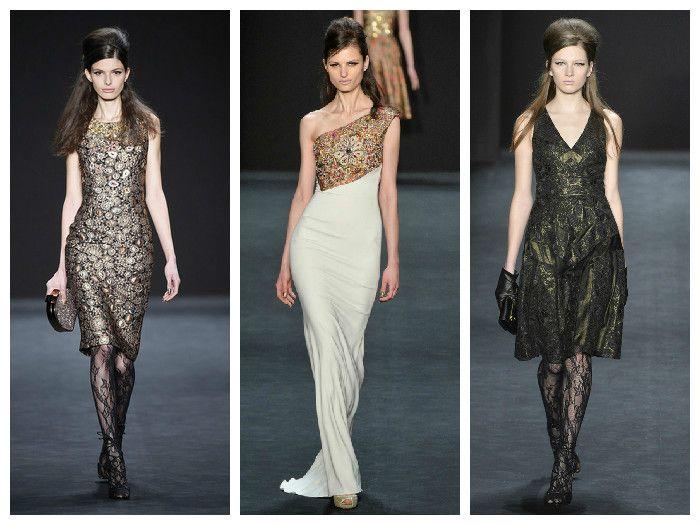 Модные платья коллекция Badgley Mischka