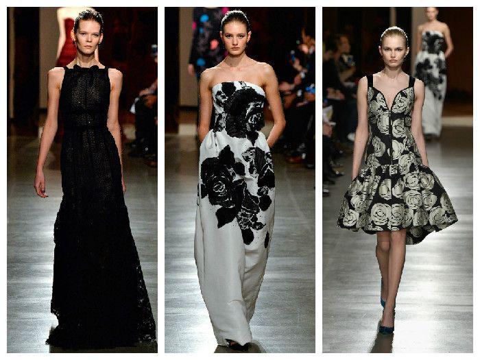 Модные платья коллекция Oscar de la Renta