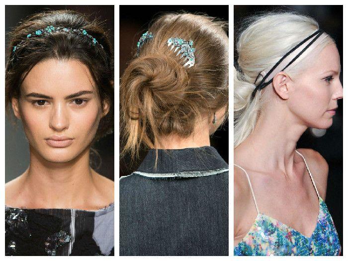 Модные прически с аксессуарами для волос