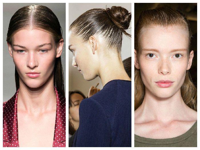 Модные прически: эффект мокрых волос