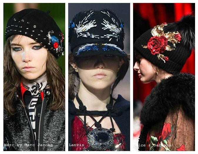 Вязаные женские шапки: декорирование аксессуарами