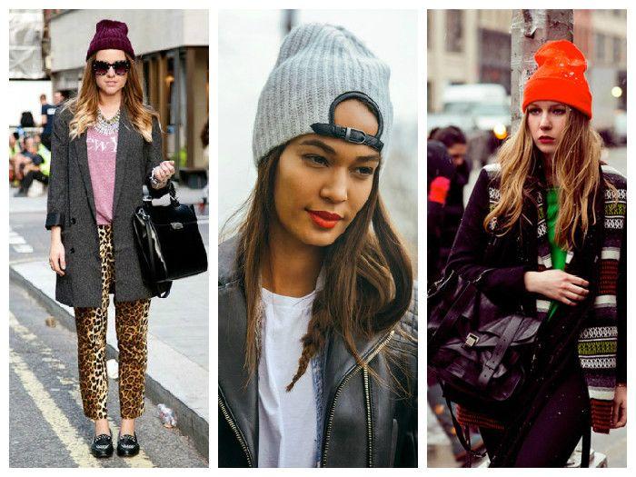 Вязаные женские шапки: бини