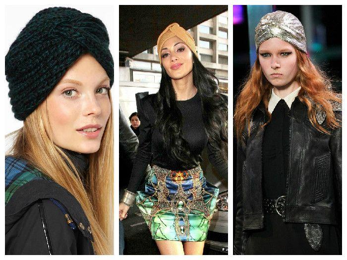 Вязаные женские шапки: тюрбан