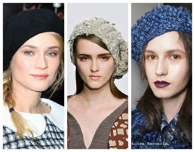 Вязаные женские шапки: берет