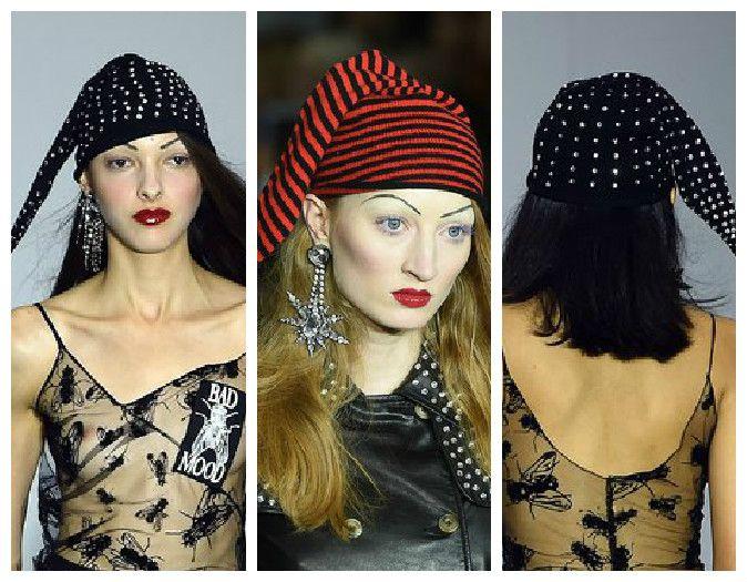 Вязаная женская шапка-колпак