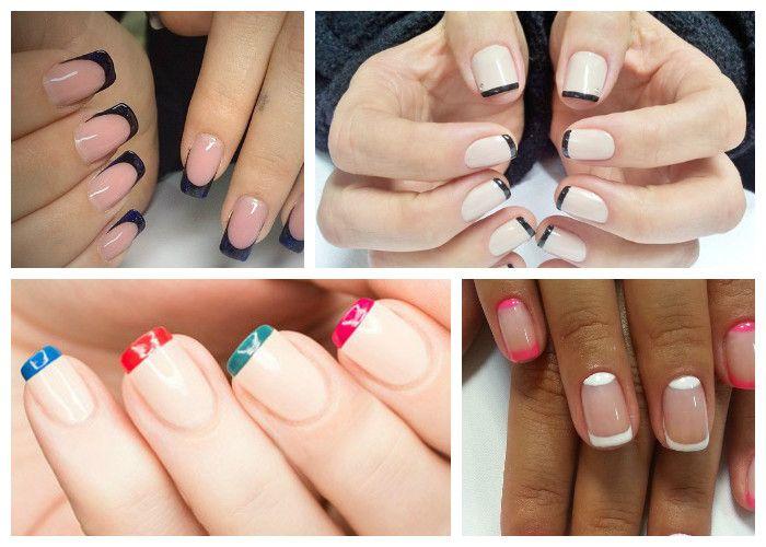 Дизайн коротких ногтей: маникюр френч