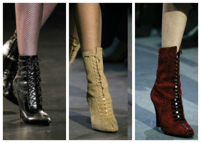 Модная обувь: сапоги со шнуровкой