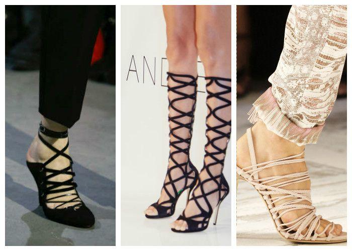 Модная обувь: босоножки со шнуровкой