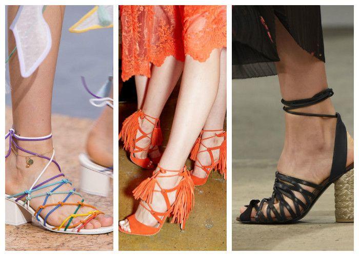 Модная обувь лето: босоножки со шнуровкой
