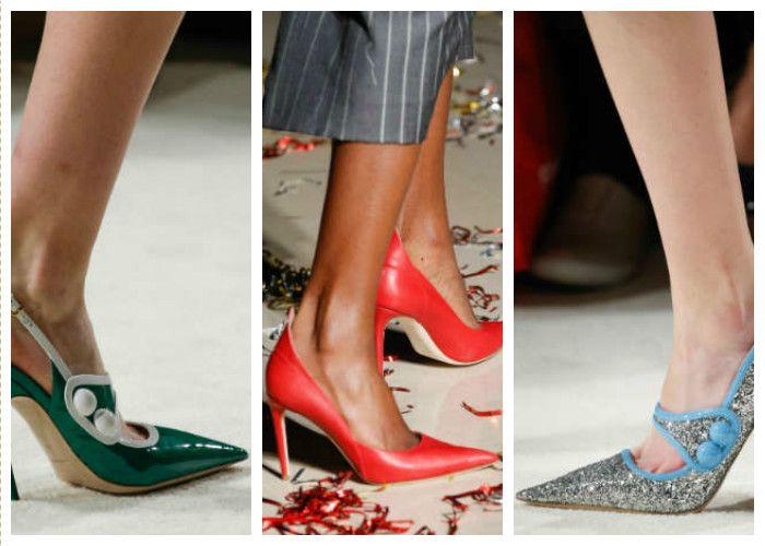 Модная обувь лето: туфли с острым носком
