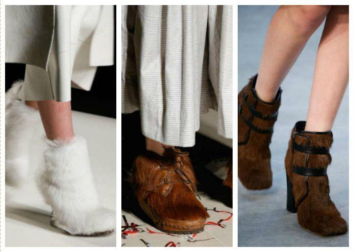Модная обувь: мех