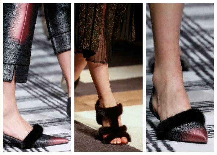 Модная обувь: нестандартная меховая отделка