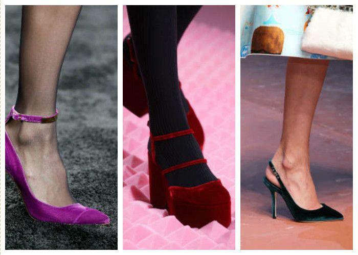 Модная обувь: бархат