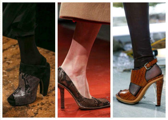Модная обувь: кожа крокодила или змеи