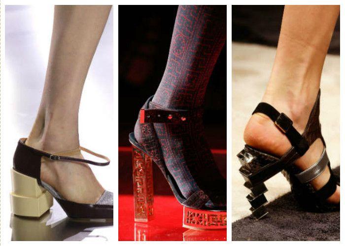 Модная обувь: необычная форма каблука