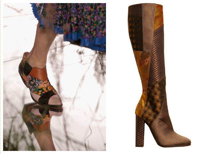 Модная обувь: стиль пэчворк