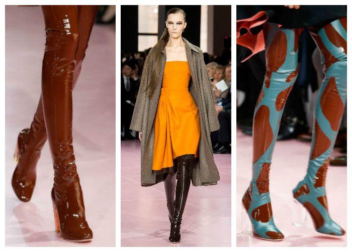 Модная обувь: сапоги из латекса. Фото моделей из коллекции Dior