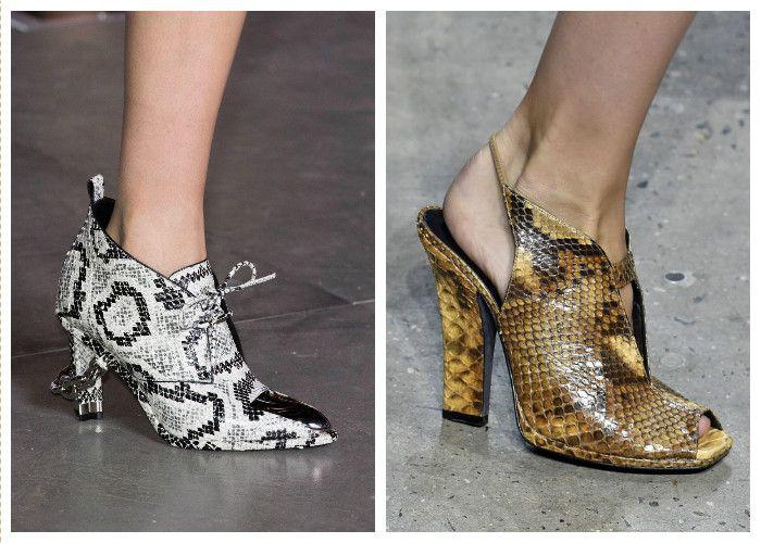 Модная обувь: стильная кожа