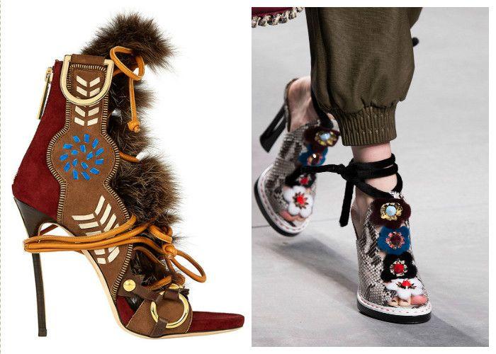 Модная обувь: этнический стиль