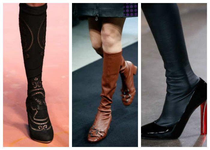 Модная обувь: сапоги-чулки