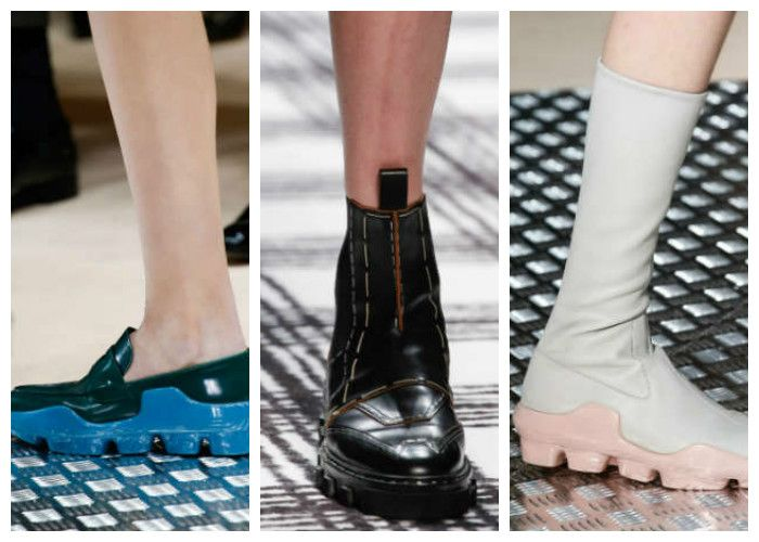 Модная обувь: ботинки с толстой тракторной подошвой