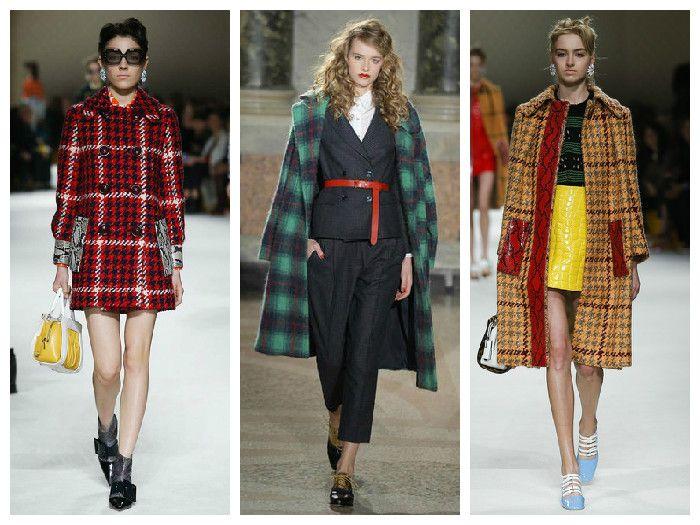 Модные клетчатые куртки 2016