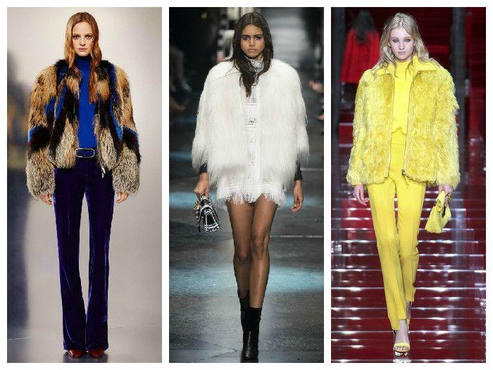 Меховые модные куртки 2016