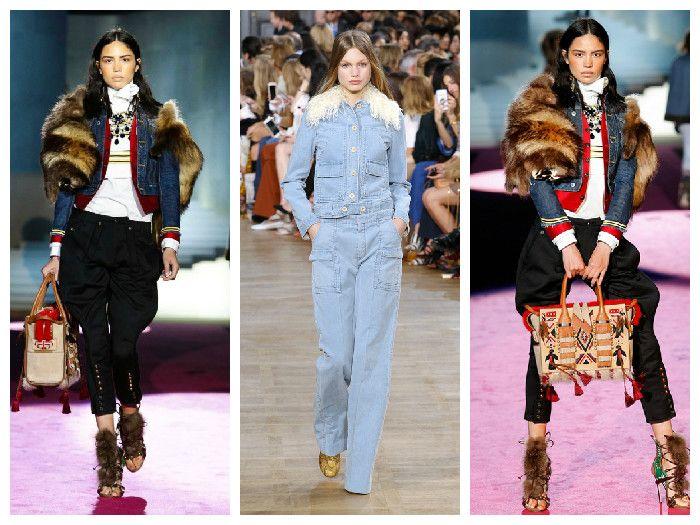 Модные джинсовые куртки 2016 с меховой отделкой