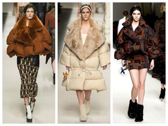 Модные куртки 2016: объемные пуховики