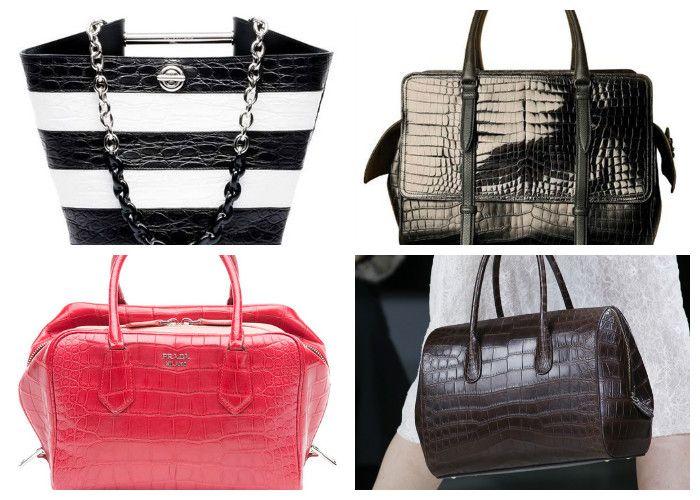 Модные сумки 2016 из кожи крокодила