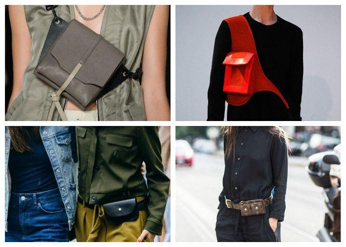 Модные сумки 2016: нательные сумки и сумки-пояса