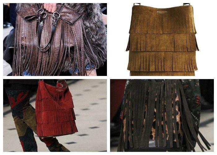 Модные сумки 2016 с бахромой